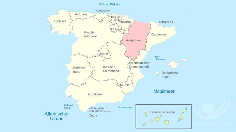 Städte und Dörfer in Aragon