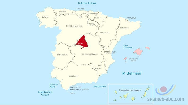 Karte Region Madrid